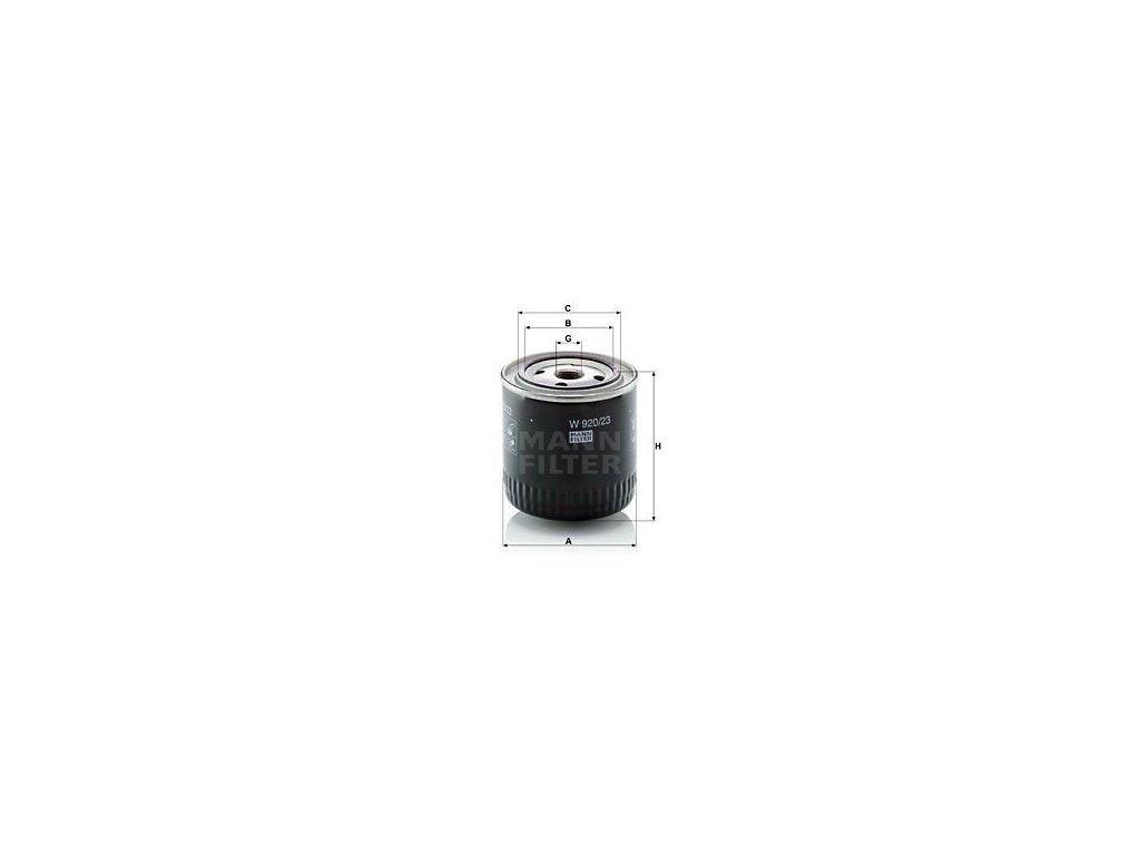 Olejový filtr MANN-FILTER W 920/23