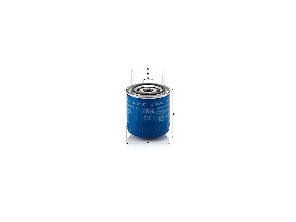 Olejový filtr MANN-FILTER W 920/47