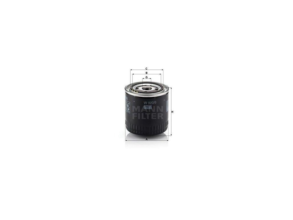 Olejový filtr MANN-FILTER W 920/6