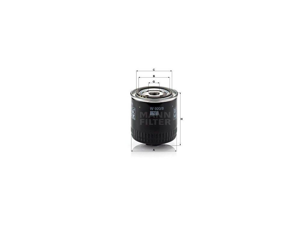 Olejový filtr MANN-FILTER W 920/8