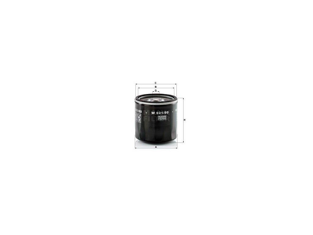 Olejový filtr MANN-FILTER W 921/80