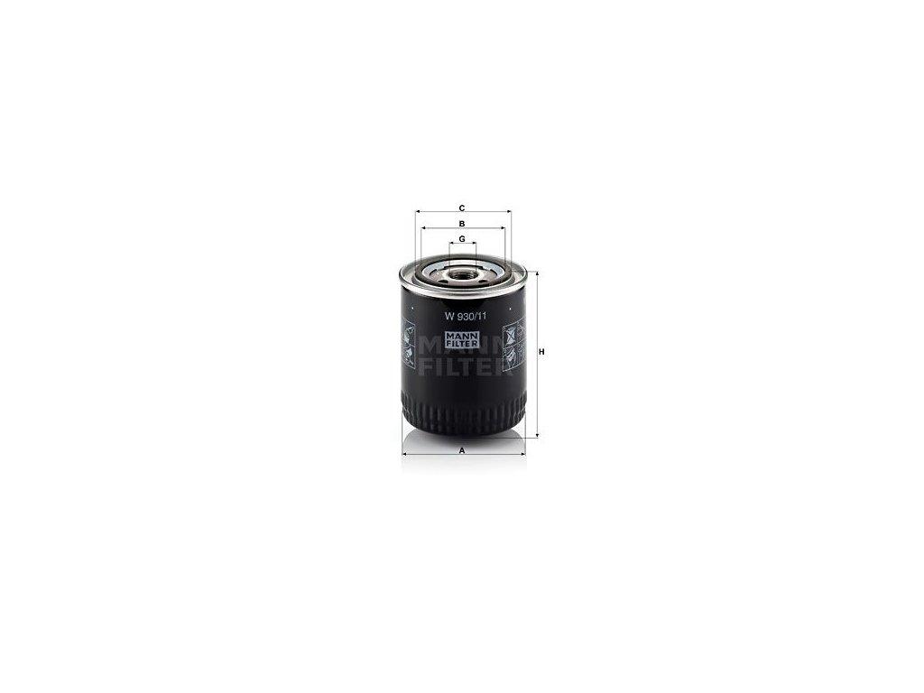 Olejový filtr MANN-FILTER W 930/11