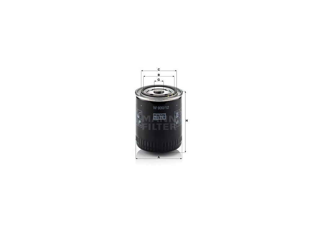 Olejový filtr MANN-FILTER W 930/12