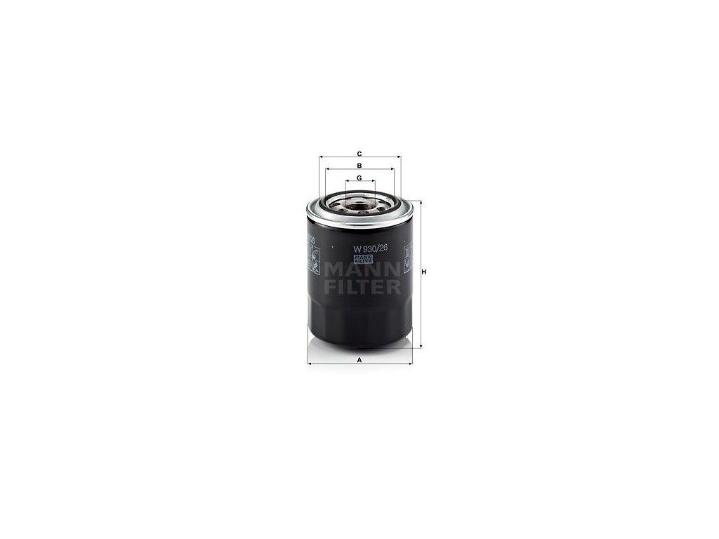 Olejový filtr MANN-FILTER W 930/26