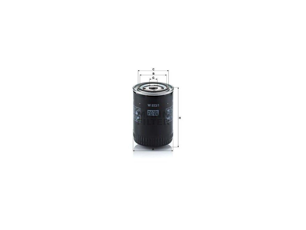 Olejový filtr MANN-FILTER W 933/1