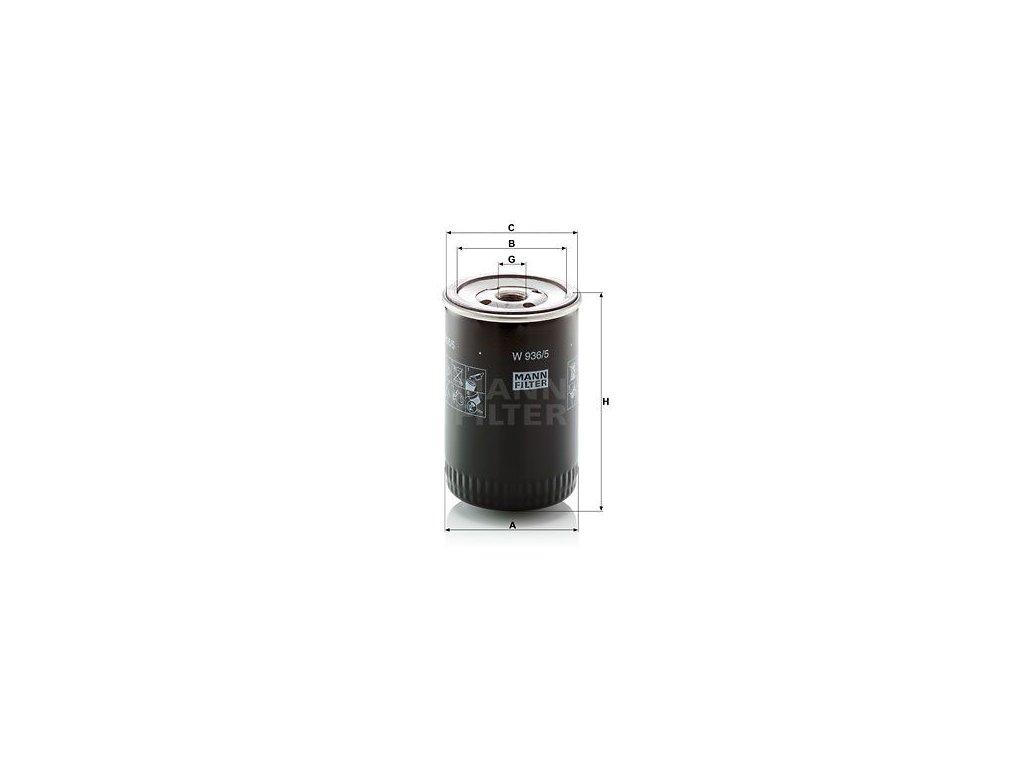 Olejový filtr MANN-FILTER W 936/5