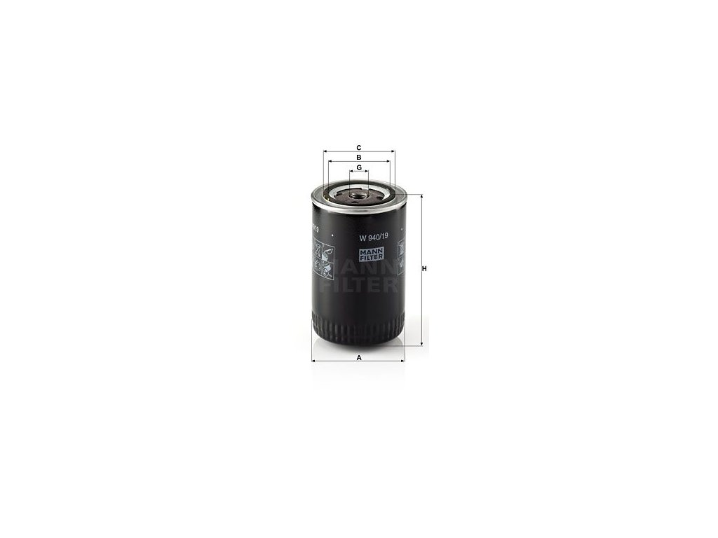 Palivový filtr MANN-FILTER W 940/19