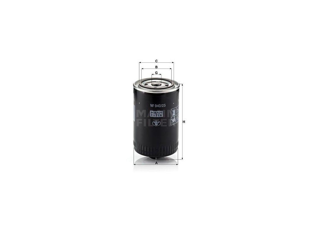 Olejový filtr MANN-FILTER W 940/25