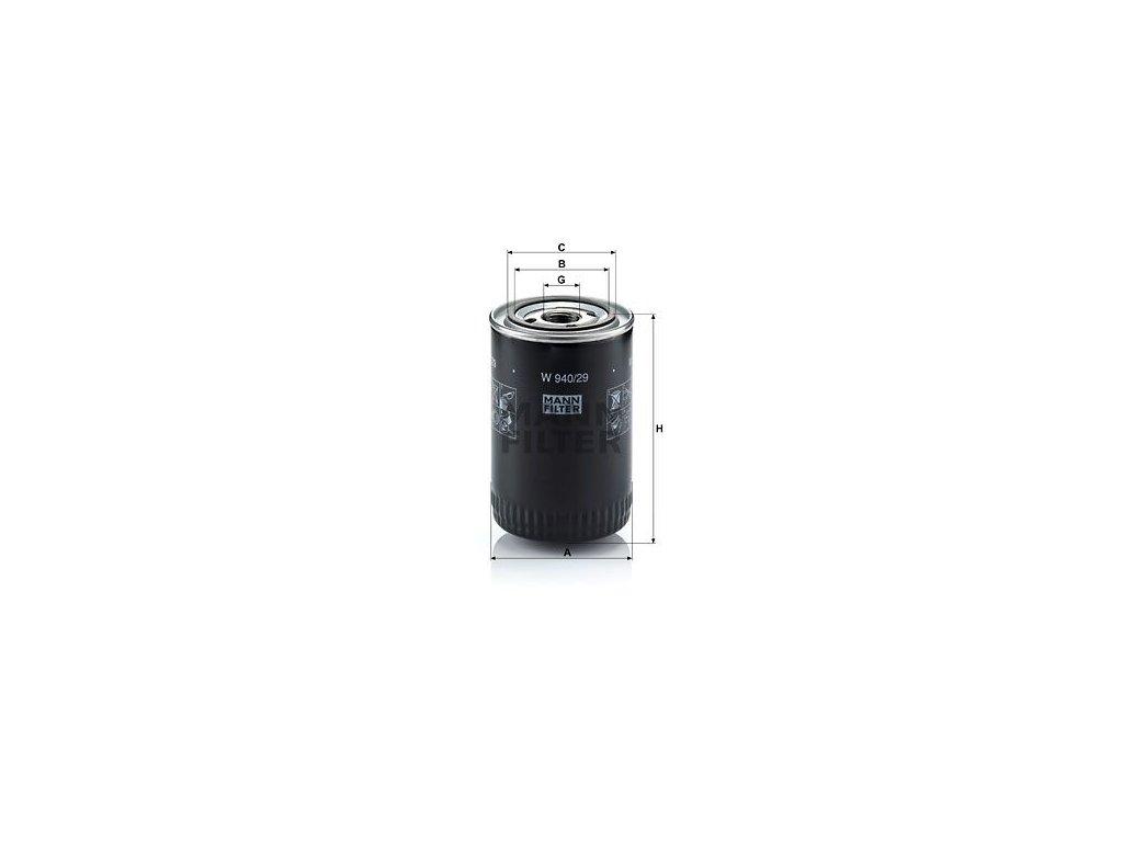 Olejový filtr MANN-FILTER W 940/29
