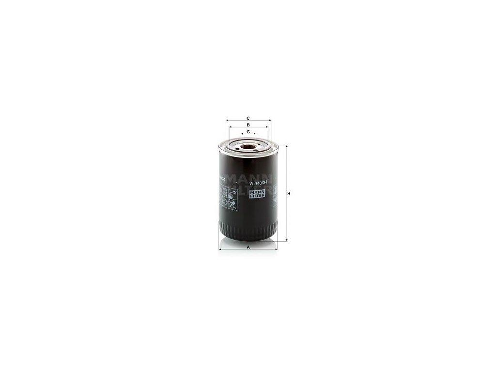 Olejový filtr MANN-FILTER W 940/34