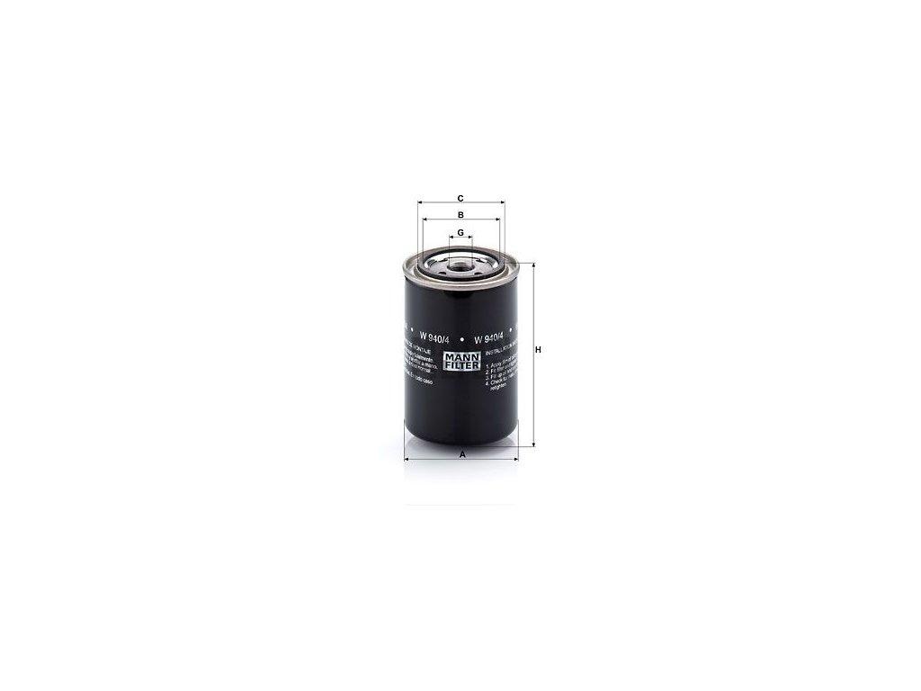Olejový filtr MANN-FILTER W 940/4