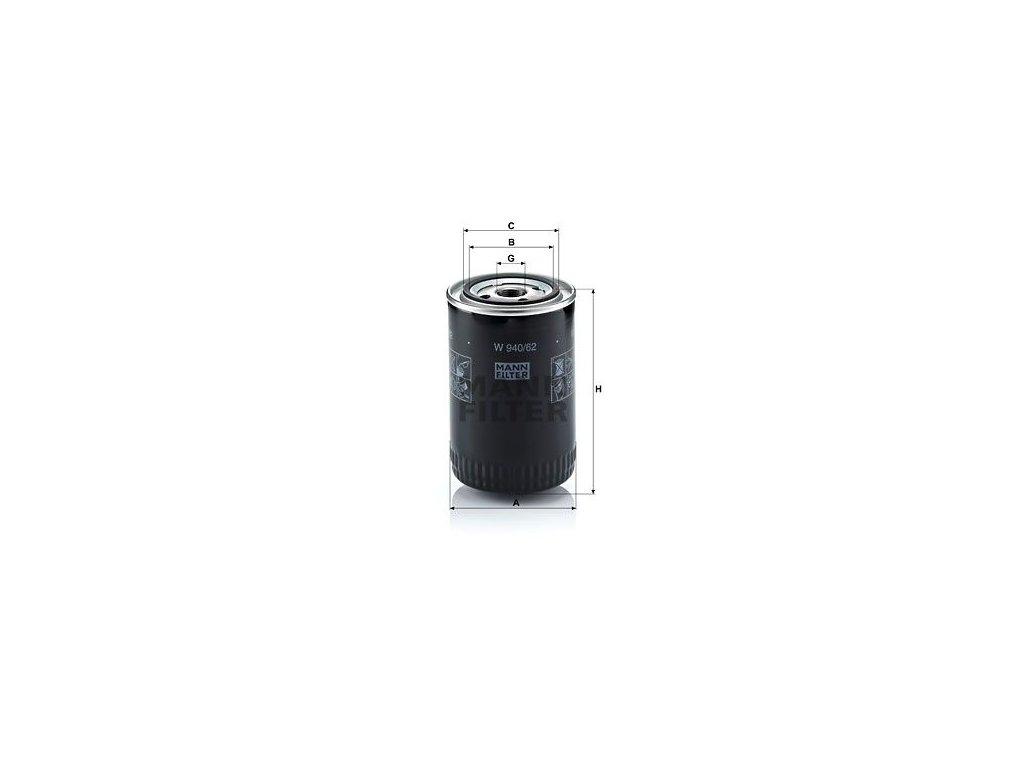 Olejový filtr MANN-FILTER W 940/62