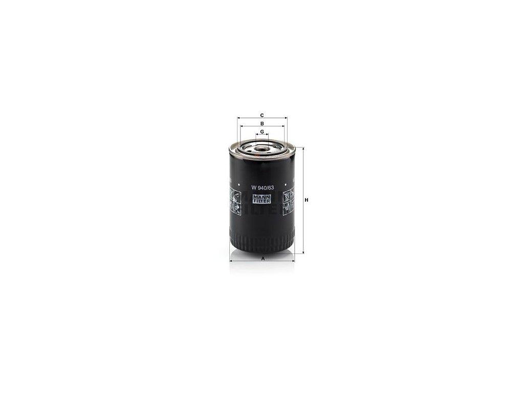 Olejový filtr MANN-FILTER W 940/63