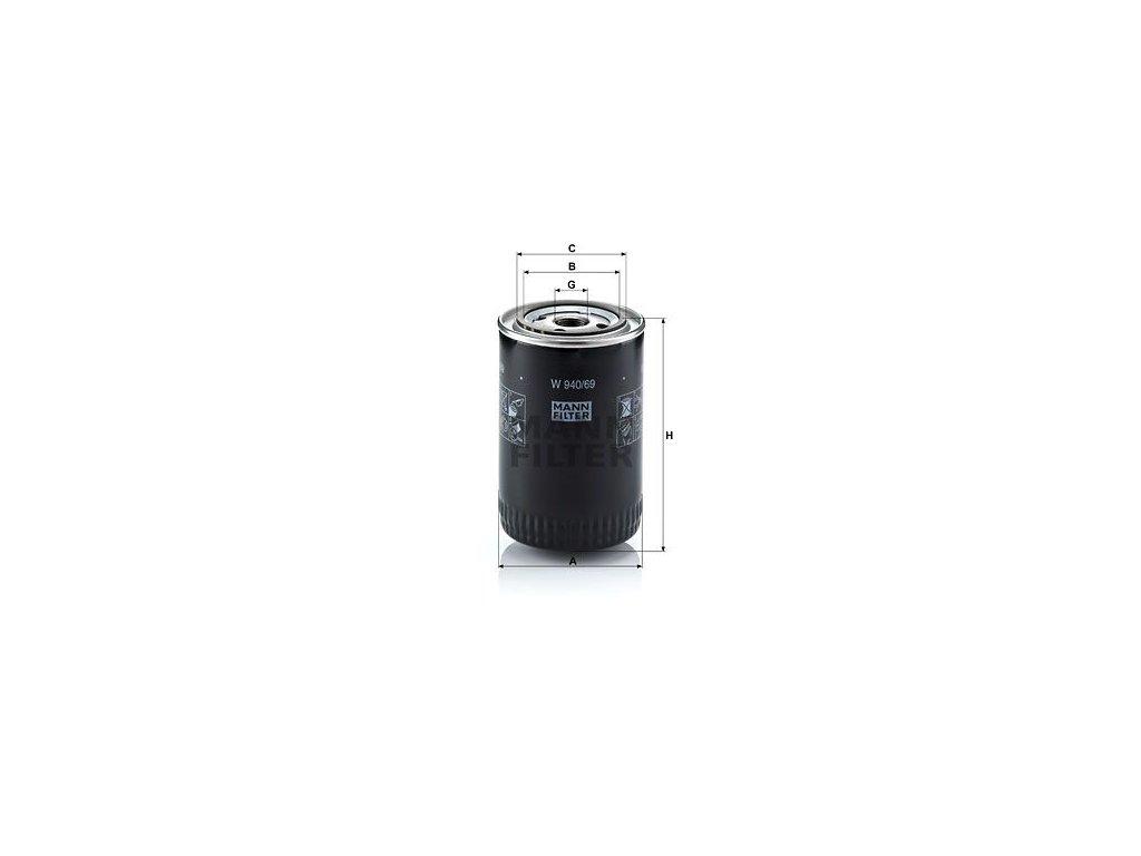 Olejový filtr MANN-FILTER W 940/69