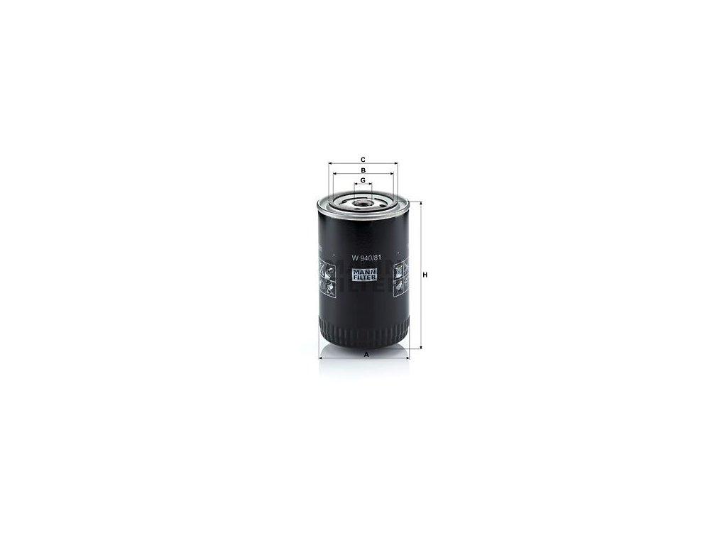 Olejový filtr MANN-FILTER W 940/81