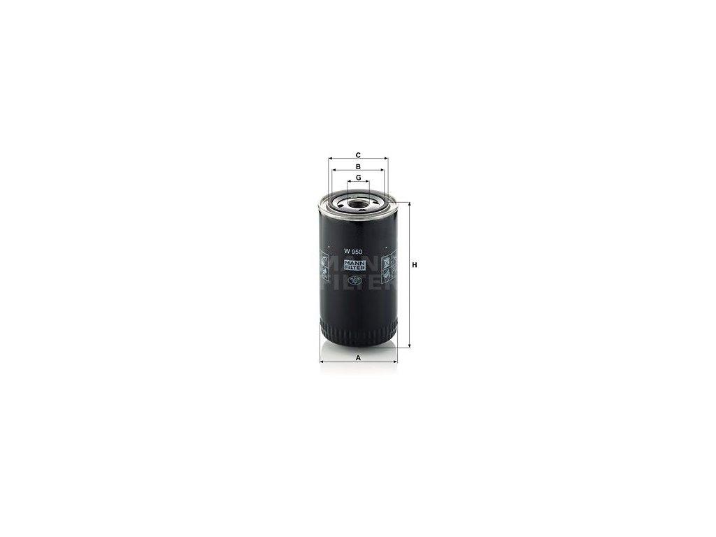 Olejový filtr MANN-FILTER W 950