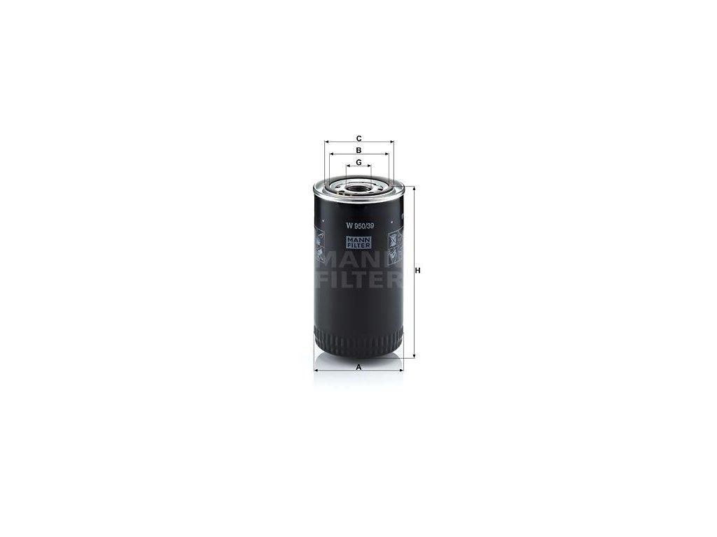 Olejový filtr MANN-FILTER W 950/39