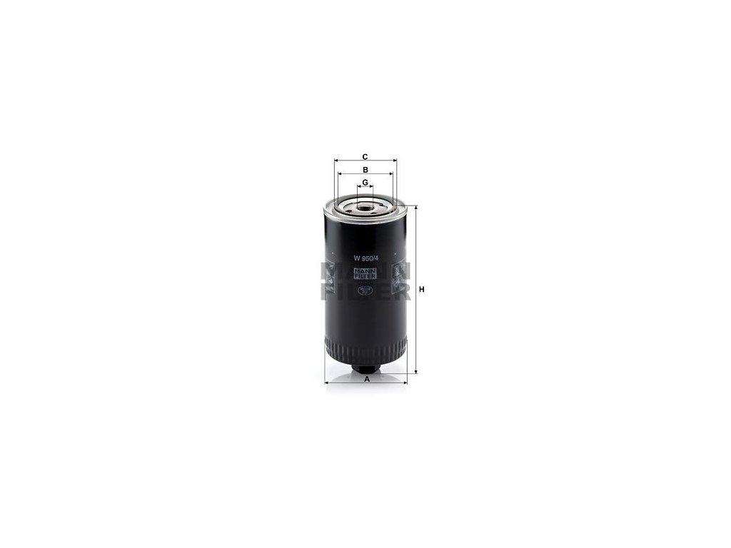 Olejový filtr MANN-FILTER W 950/4