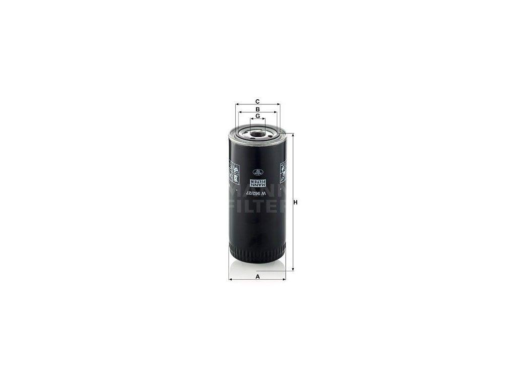 Olejový filtr MANN-FILTER W 962/27