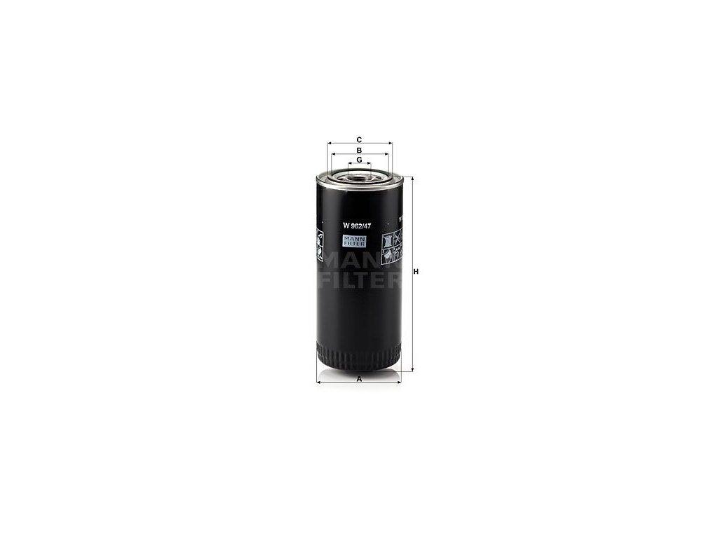 Olejový filtr MANN-FILTER W 962/47