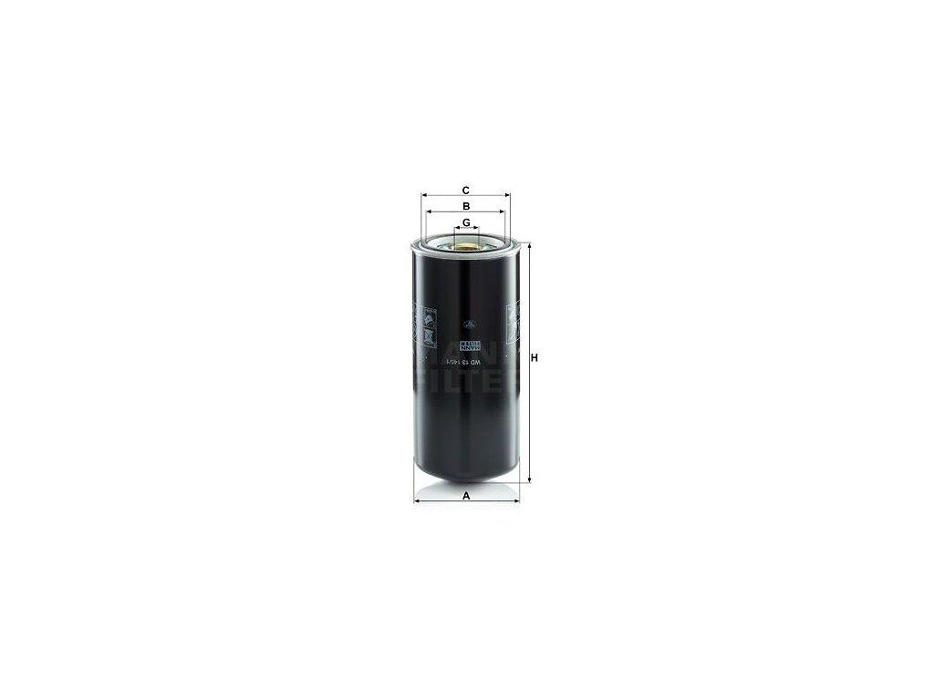 Olejový filtr MANN-FILTER WD 13 145/1