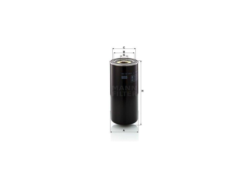 Olejový filtr MANN-FILTER WD 13 145/4
