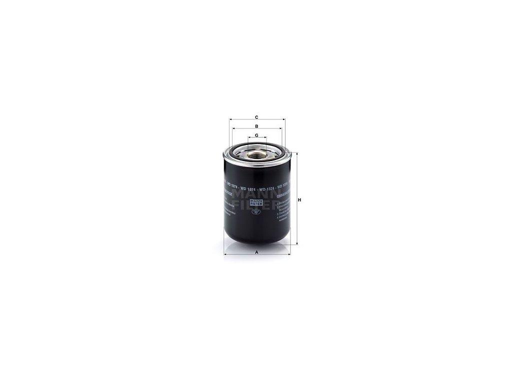 Olejový filtr MANN-FILTER WD 1374