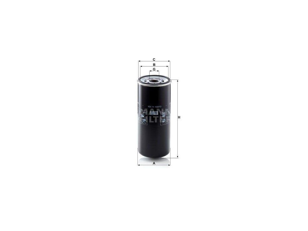 Palivový filtr MANN-FILTER WDK 11 102/13