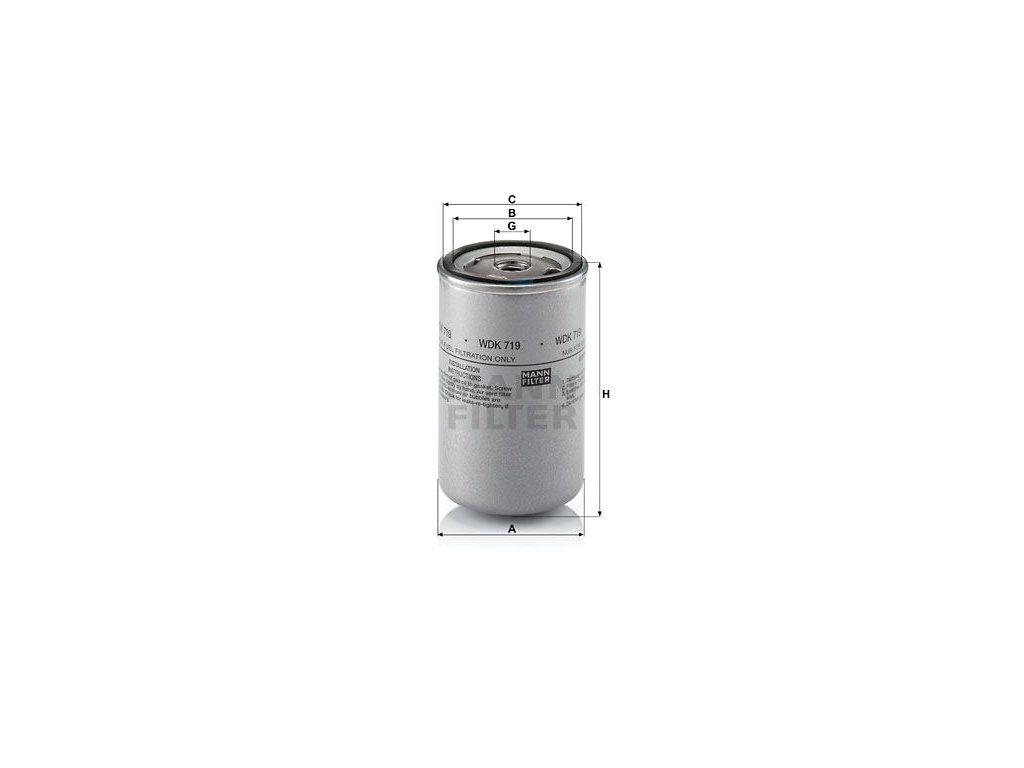Palivový filtr MANN-FILTER WDK 719
