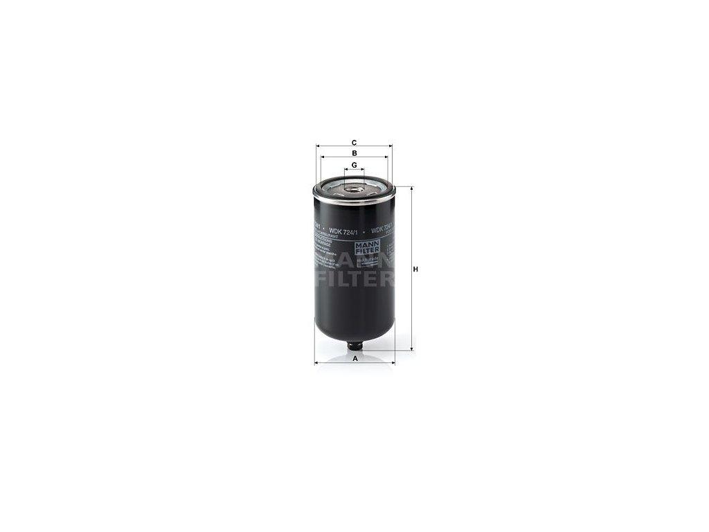 Palivový filtr MANN-FILTER WDK 724/1