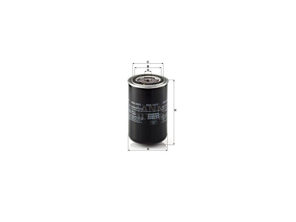 Palivový filtr MANN-FILTER WDK 940/5