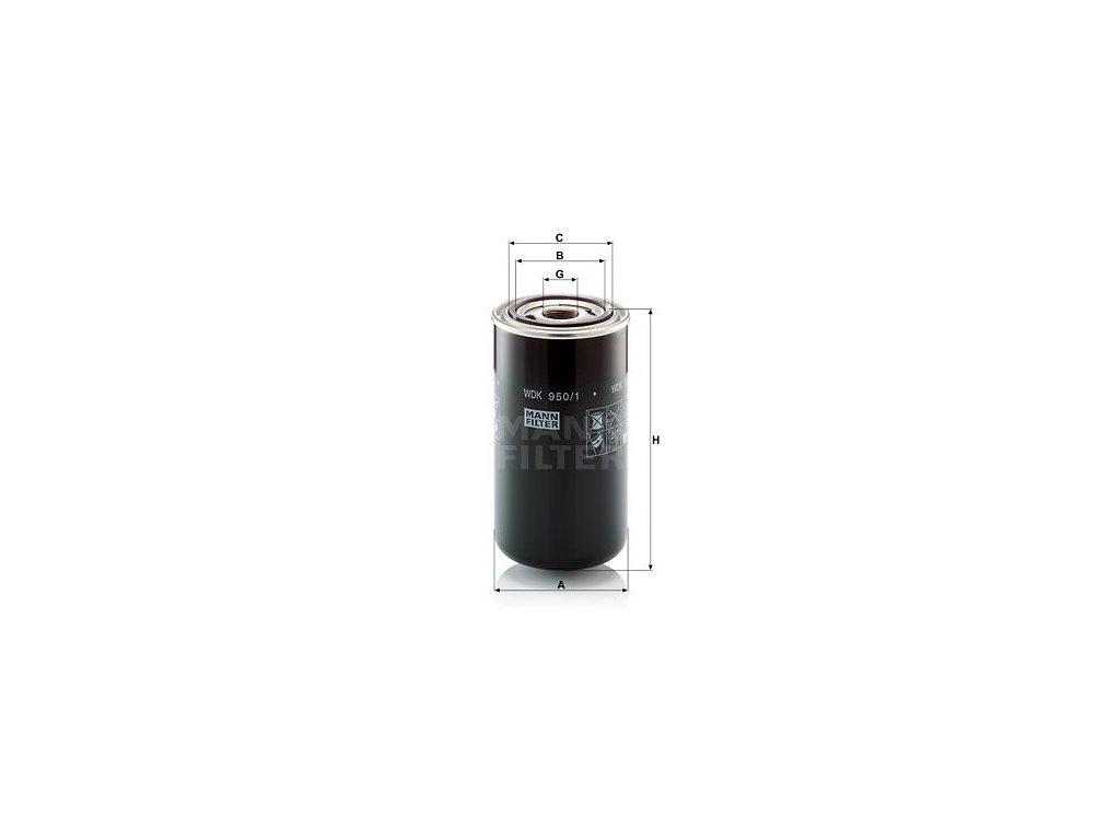 Palivový filtr MANN-FILTER WDK 950/1