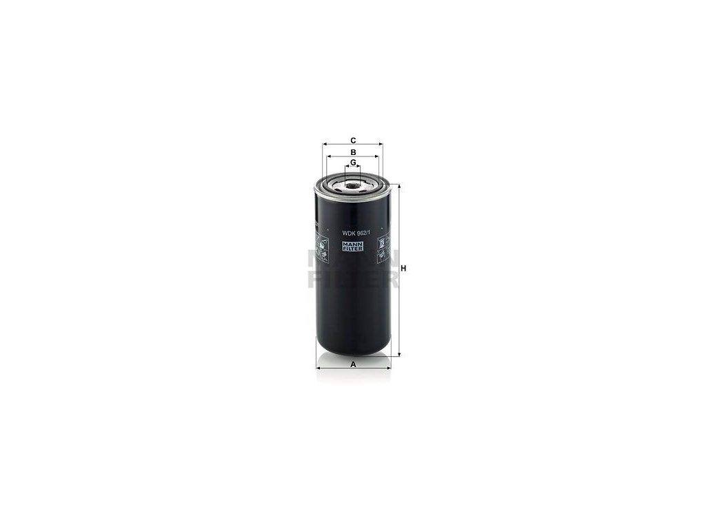 Palivový filtr MANN-FILTER WDK 962/1