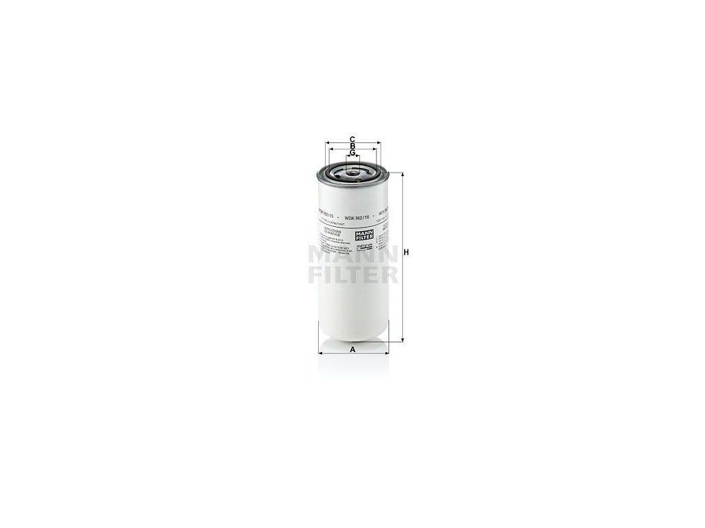 Palivový filtr MANN-FILTER WDK 962/16