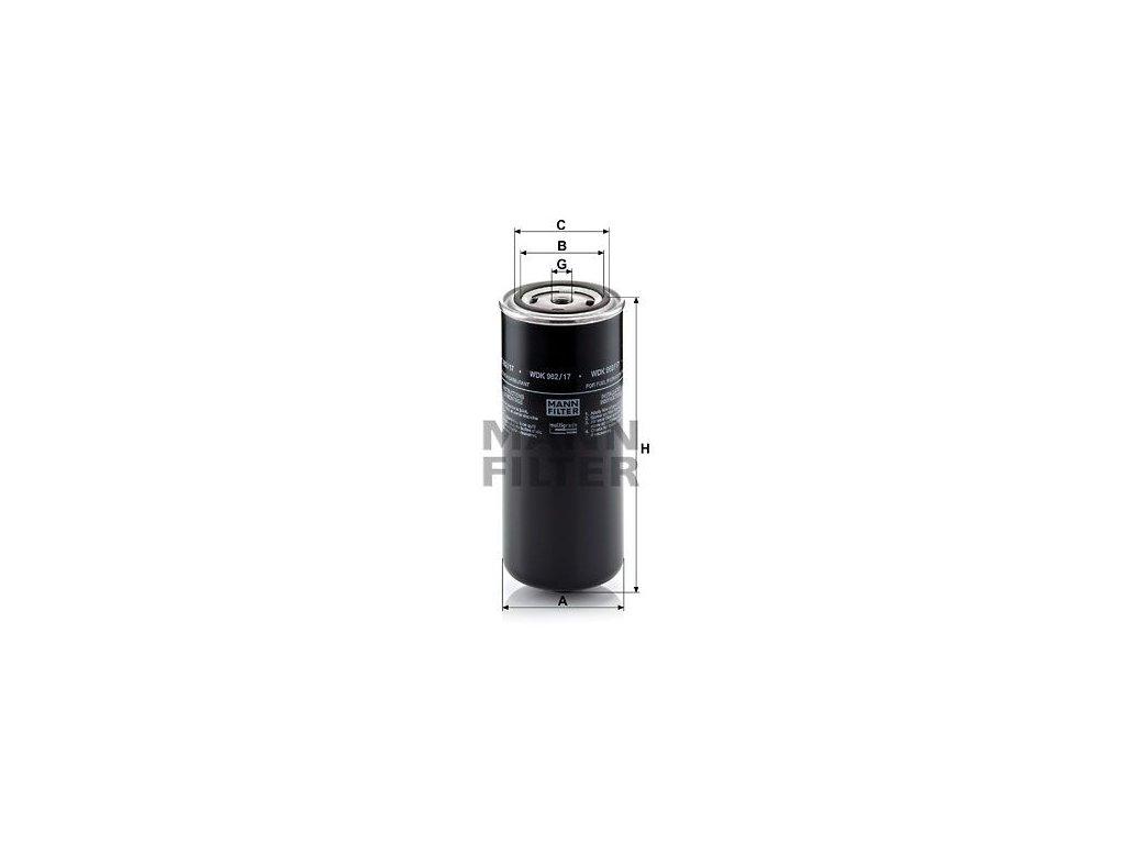 Palivový filtr MANN-FILTER WDK 962/17