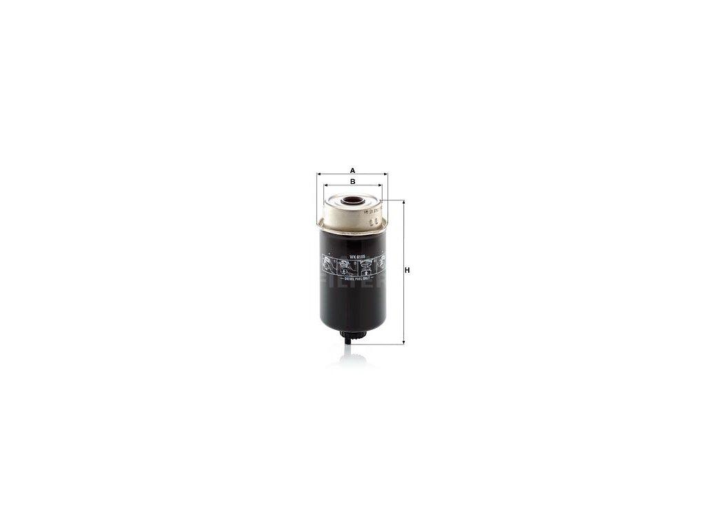 Palivový filtr MANN-FILTER WK 8165