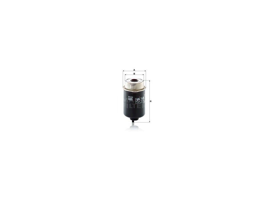 Palivový filtr MANN-FILTER WK 8166