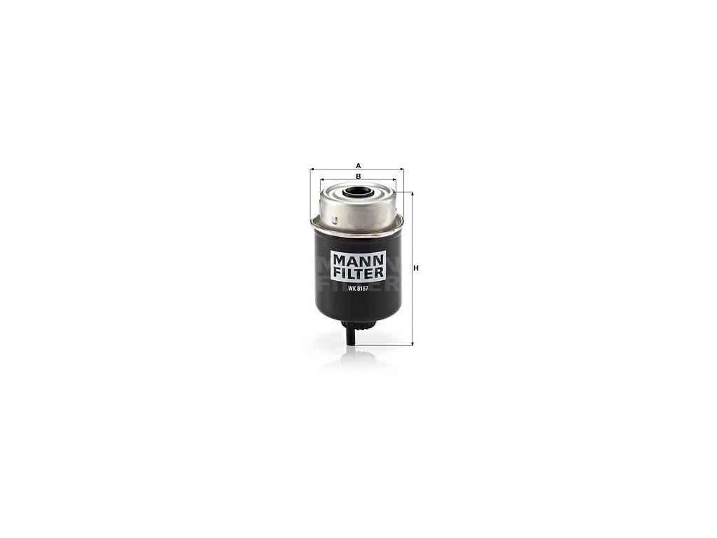 Palivový filtr MANN-FILTER WK 8167