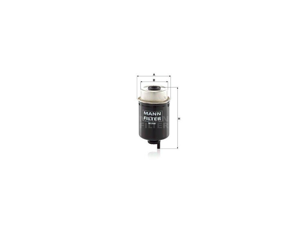 Palivový filtr MANN-FILTER WK 8195