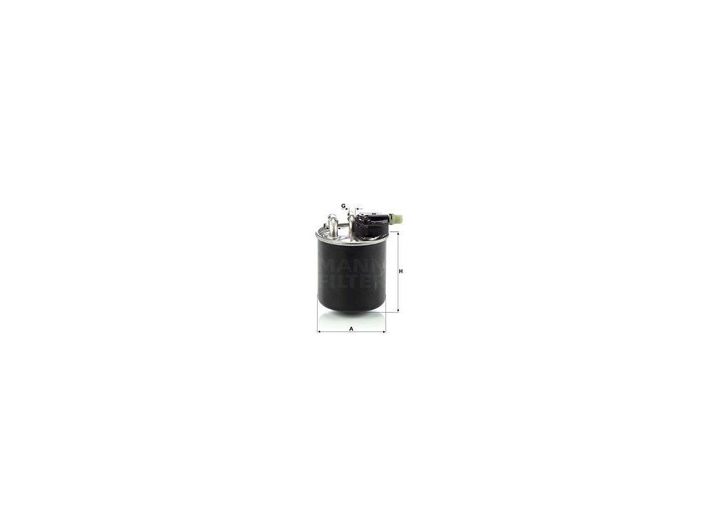 Palivový filtr MANN-FILTER WK 820/14