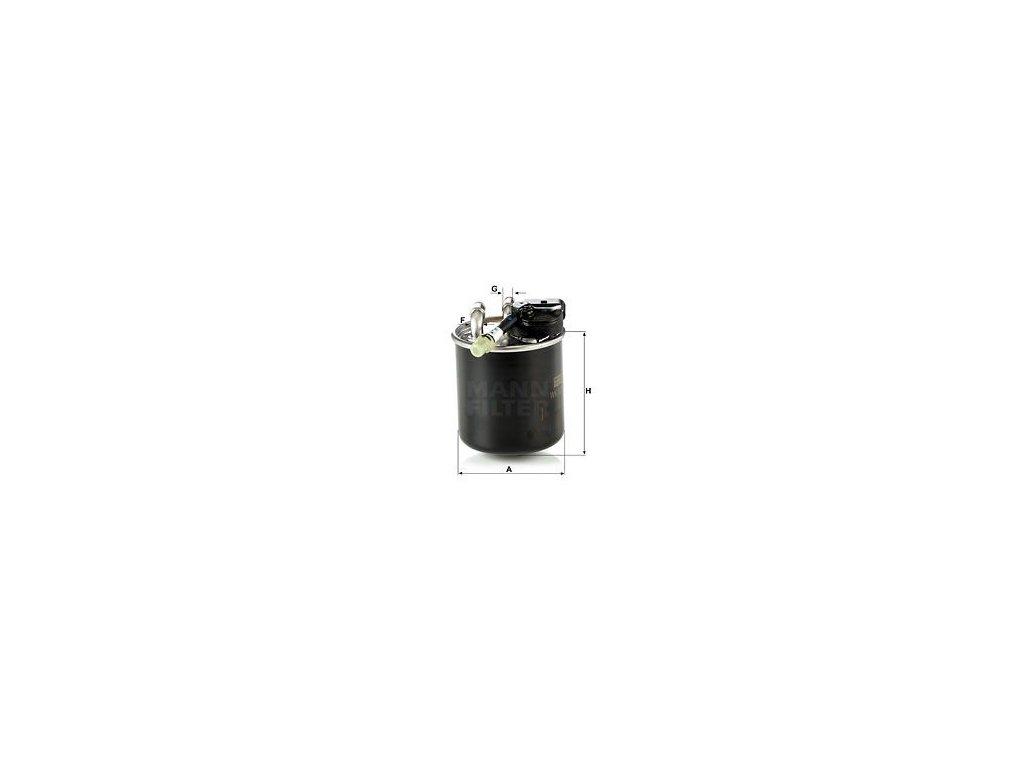 Palivový filtr MANN-FILTER WK 820/17