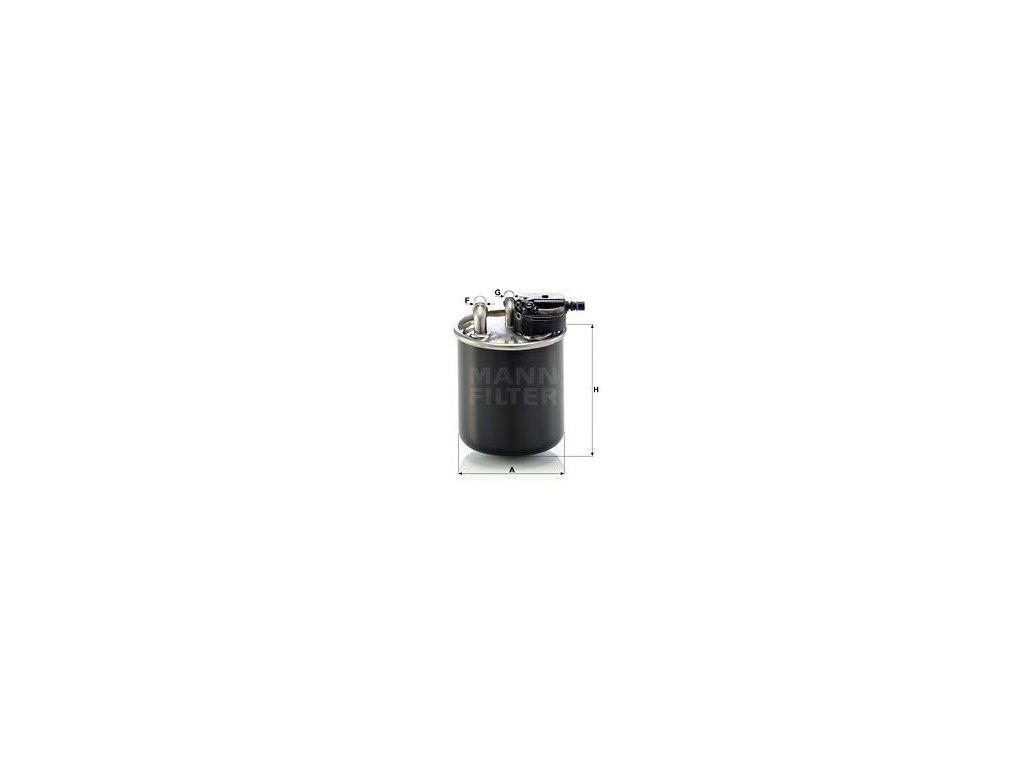 Palivový filtr MANN-FILTER WK 820/21