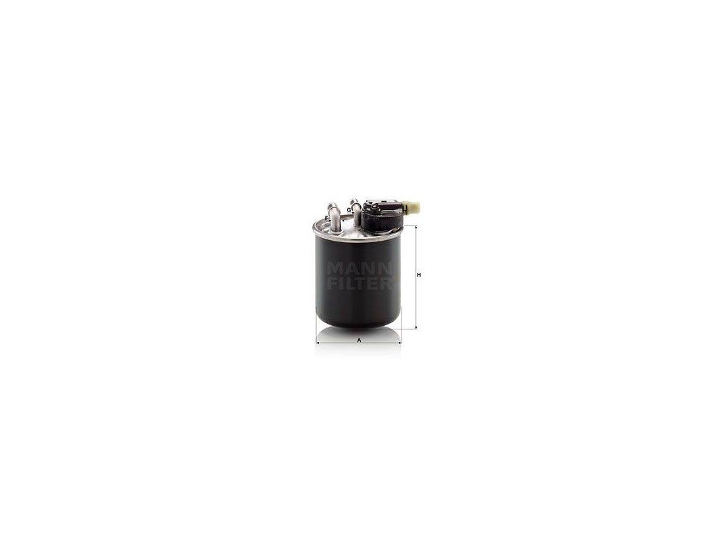 Palivový filtr MANN-FILTER WK 820/22