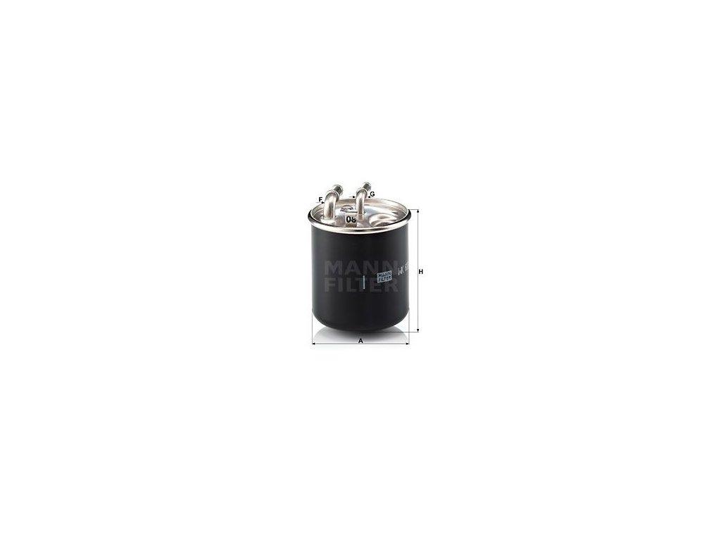 Palivový filtr MANN-FILTER WK 820/2 x