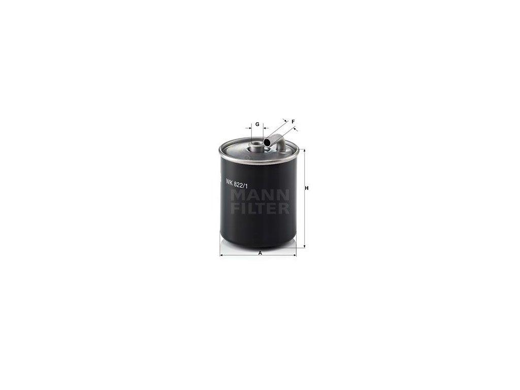 Palivový filtr MANN-FILTER WK 822/1