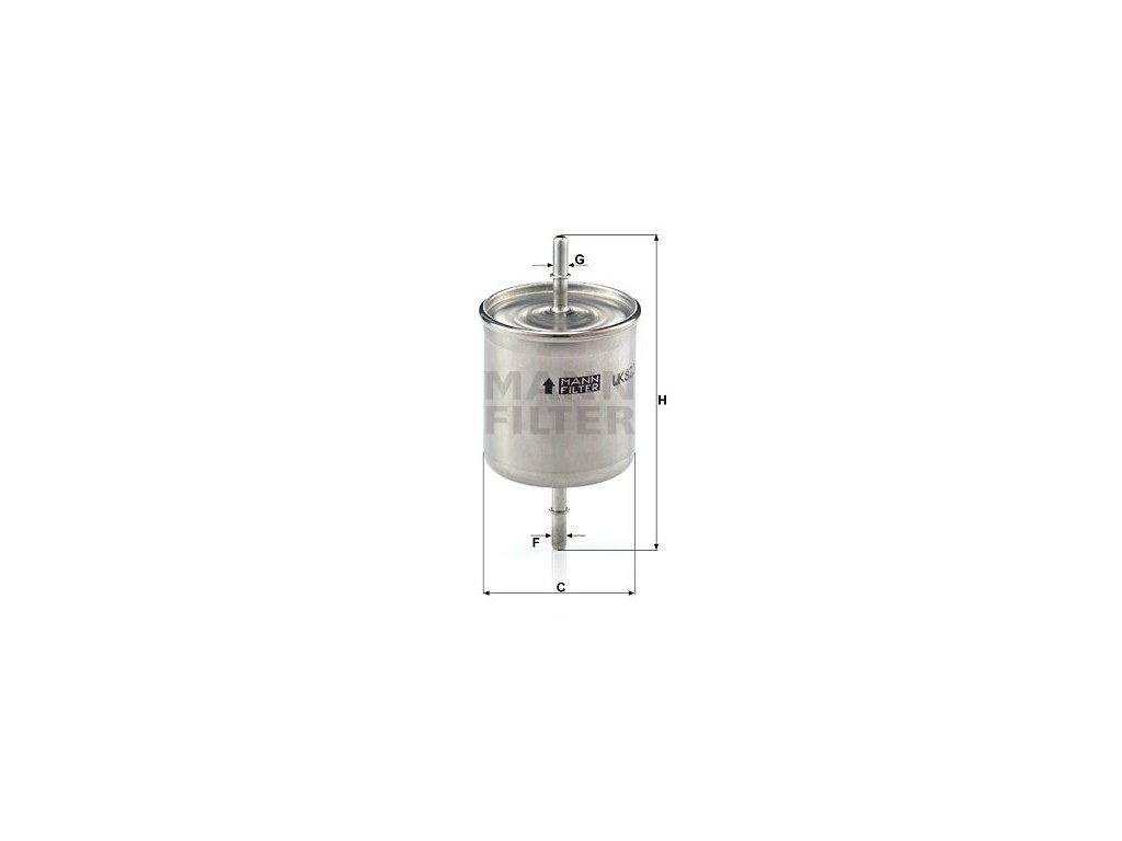 Palivový filtr MANN-FILTER WK 822/2