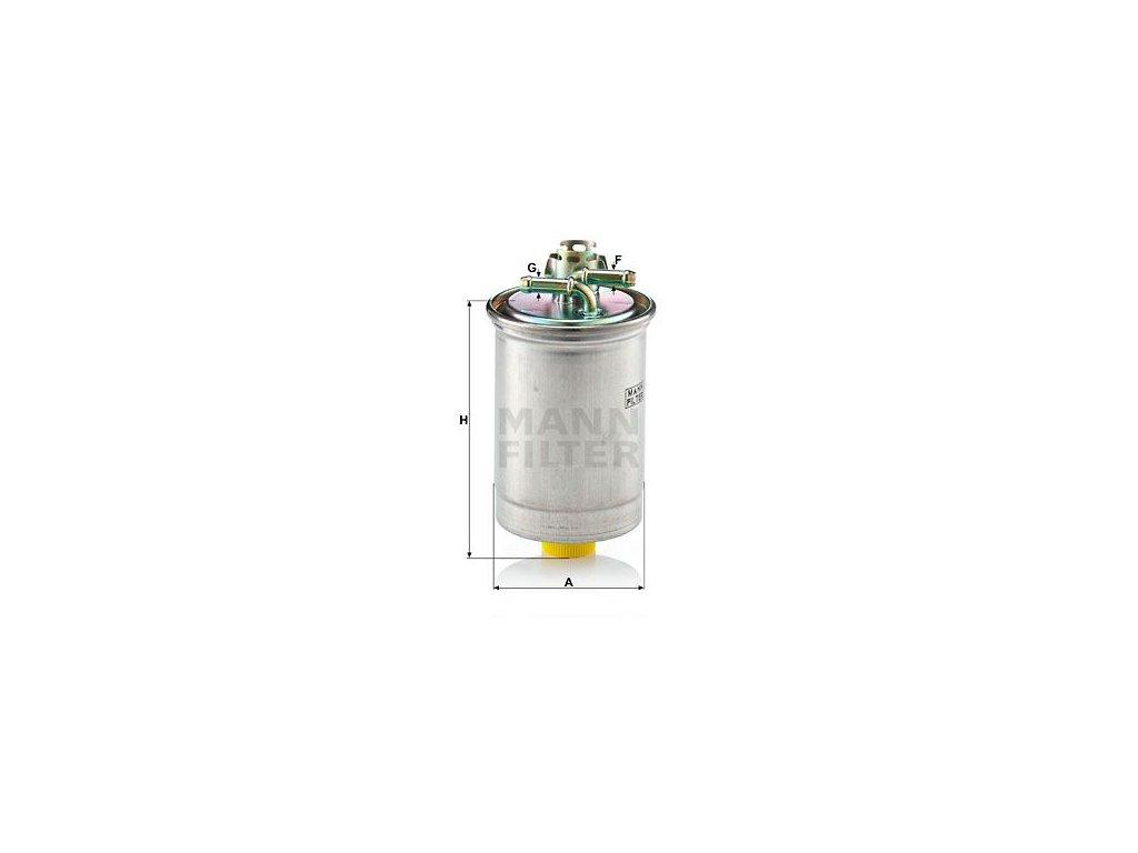Palivový filtr MANN-FILTER WK 823