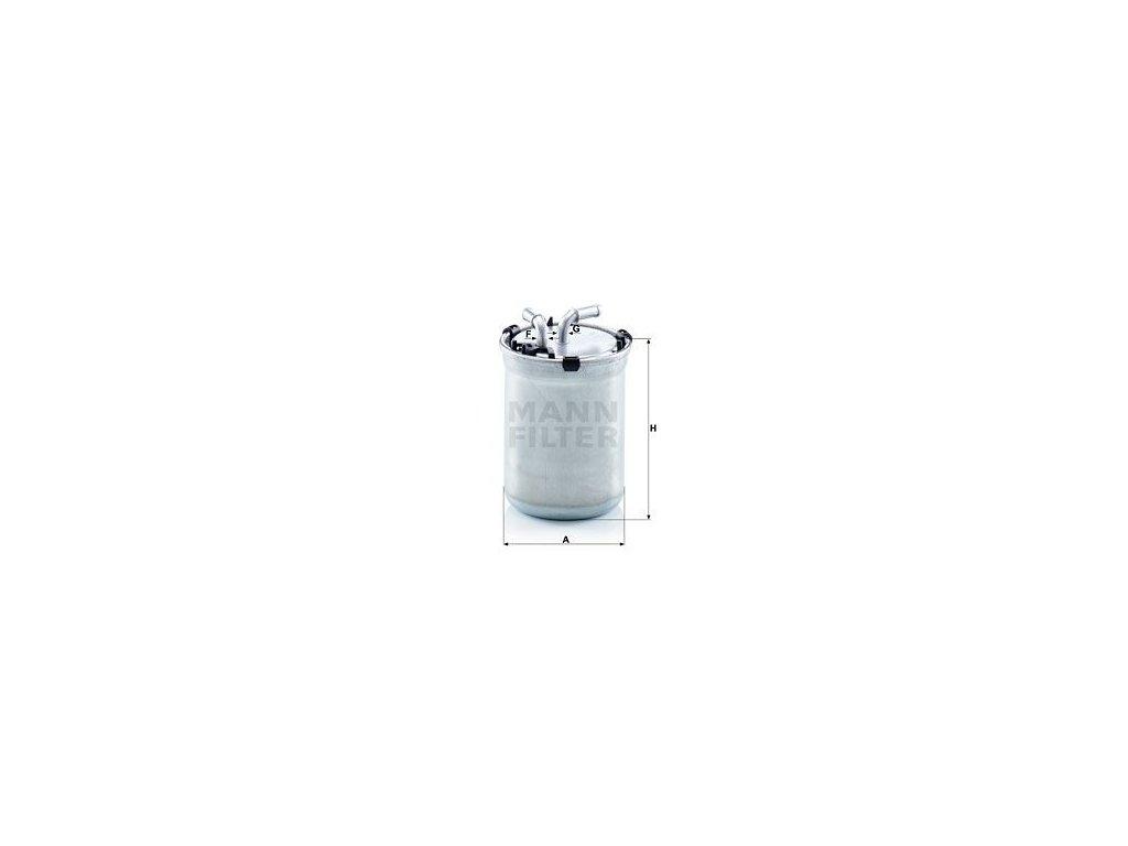 Palivový filtr MANN-FILTER WK 823/2