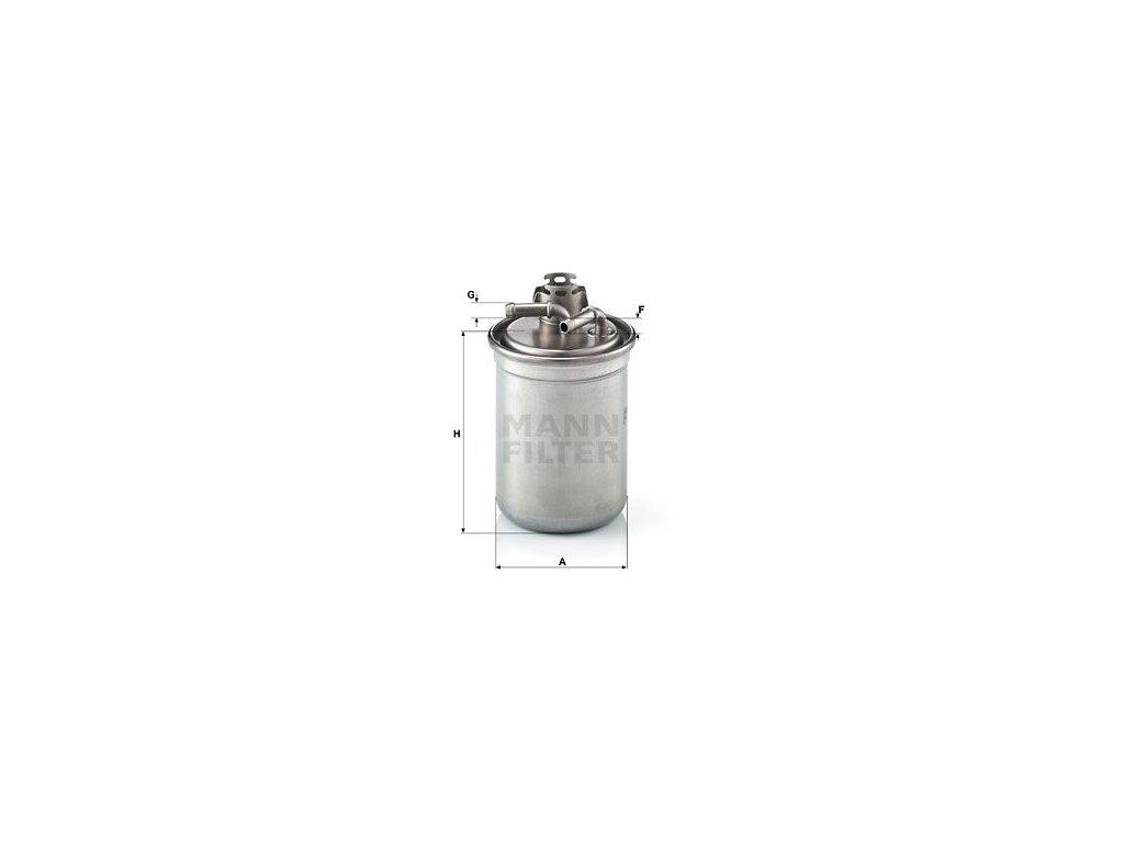 Palivový filtr MANN-FILTER WK 823/3 x