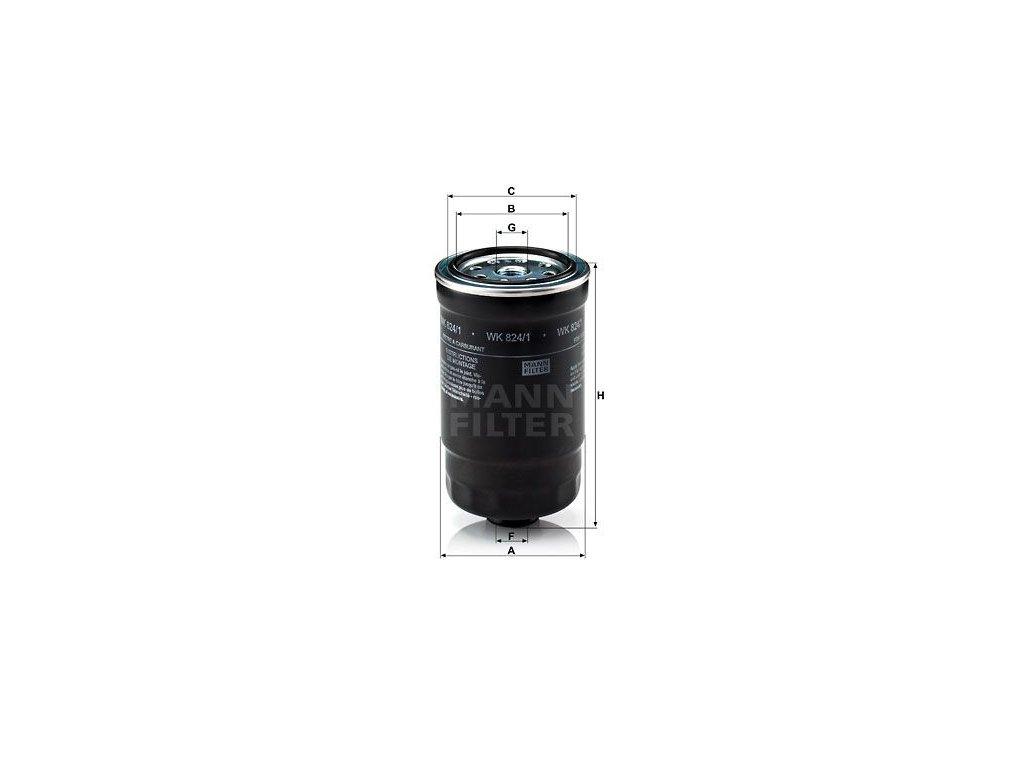 Palivový filtr MANN-FILTER WK 824/1